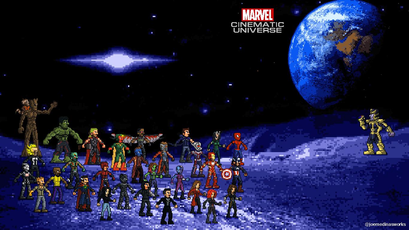 Marvel Cinematic Universe Wallpaper by MedinasWorks on 1366x768