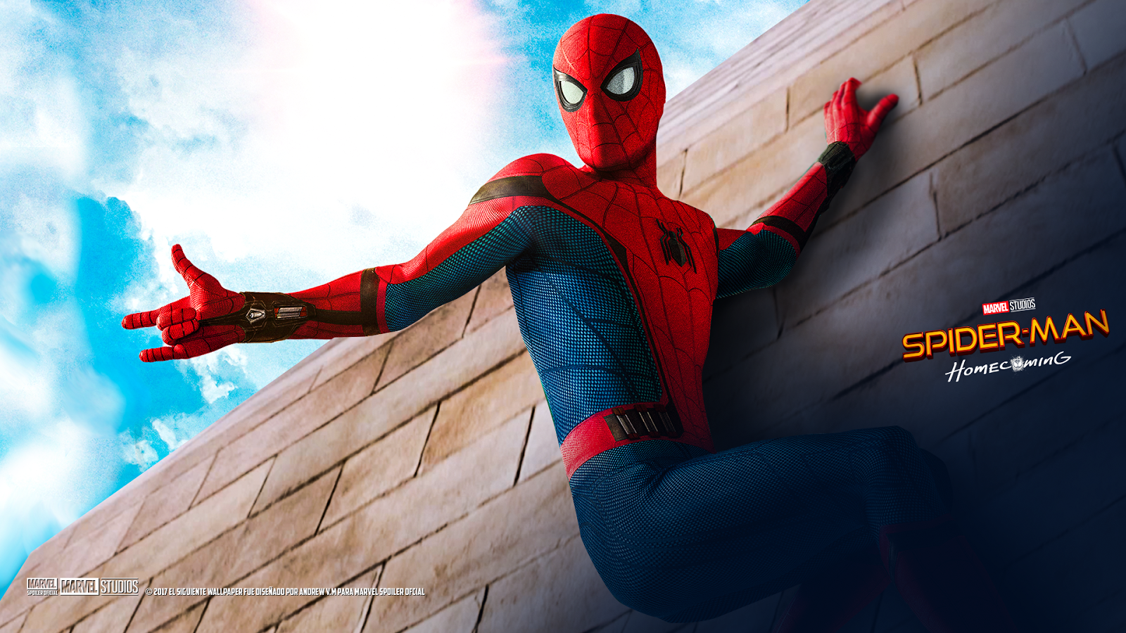 Marvel Spoiler Oficial Nuevos Wallpapers de Spider Man Homecoming 1600x900