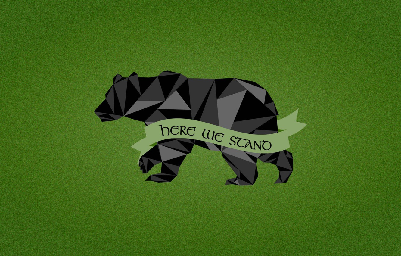 Wallpaper Game of Thrones black bear House Mormont Here We 1332x850