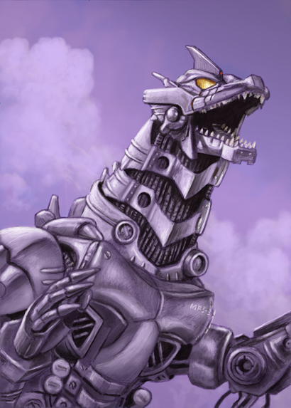 Mecha Godzilla by ChrisQuilliams 410x573