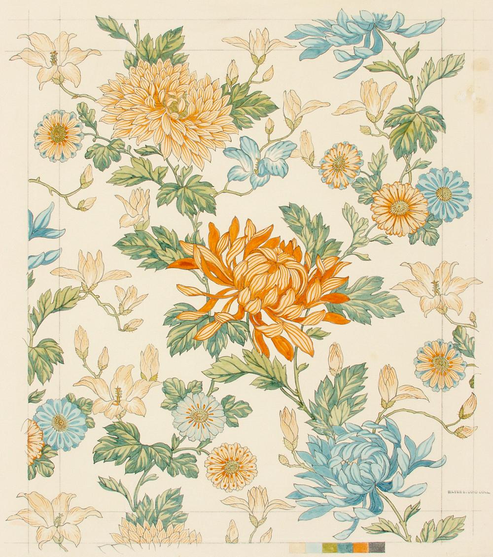 Design for wallpaper Silver Studio 1890 SD8791A 1000x1130