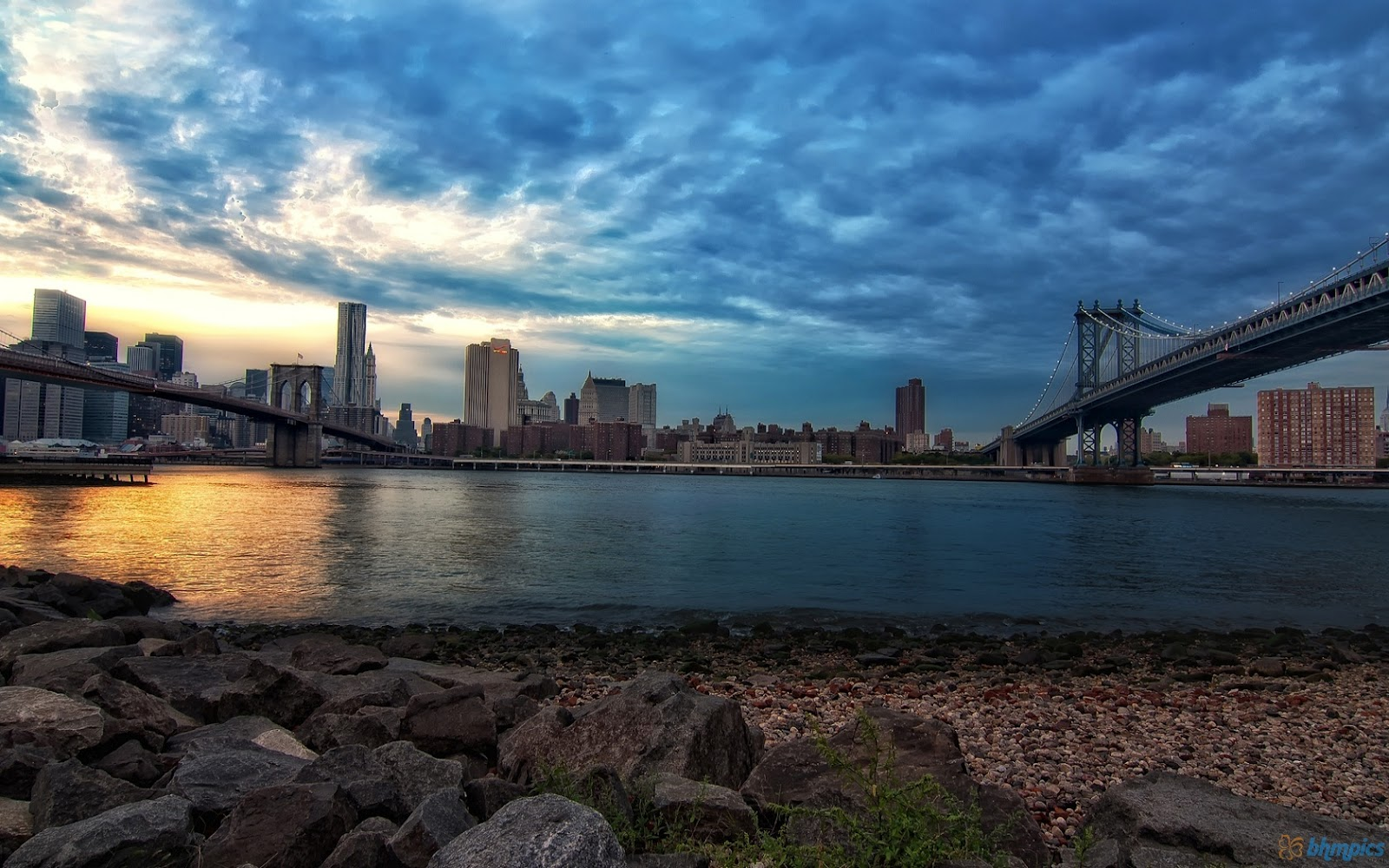 Free Download Brooklyn Bridge And Manhattan Bridge Wallpaper