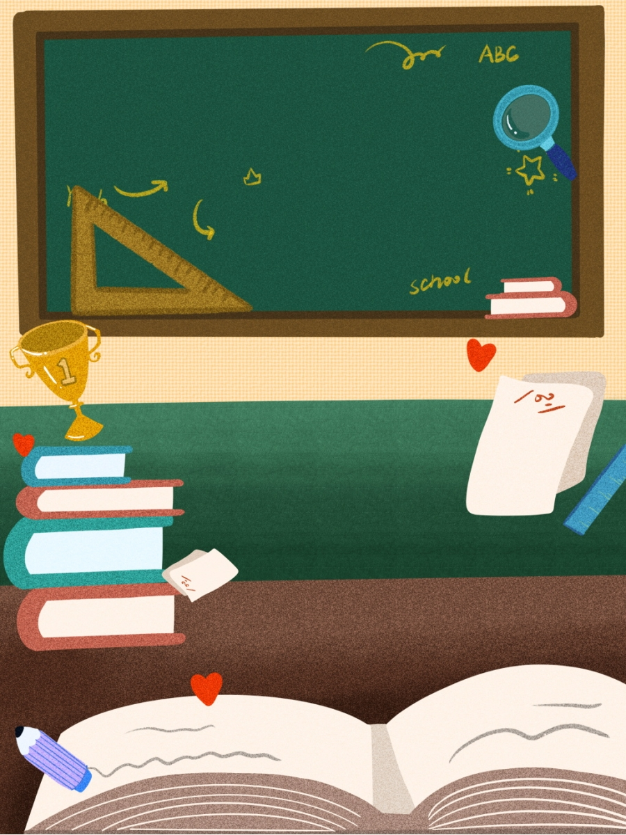 Teaching Scene English Lesson Blackboard Background Teaching 900x1200