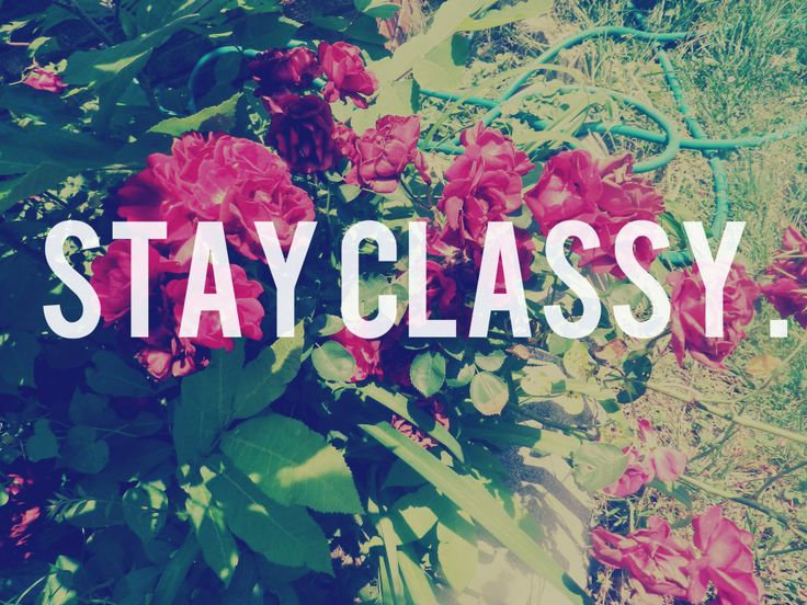 Favorite Pinterest Quotes: Stay Classy Wallpaper