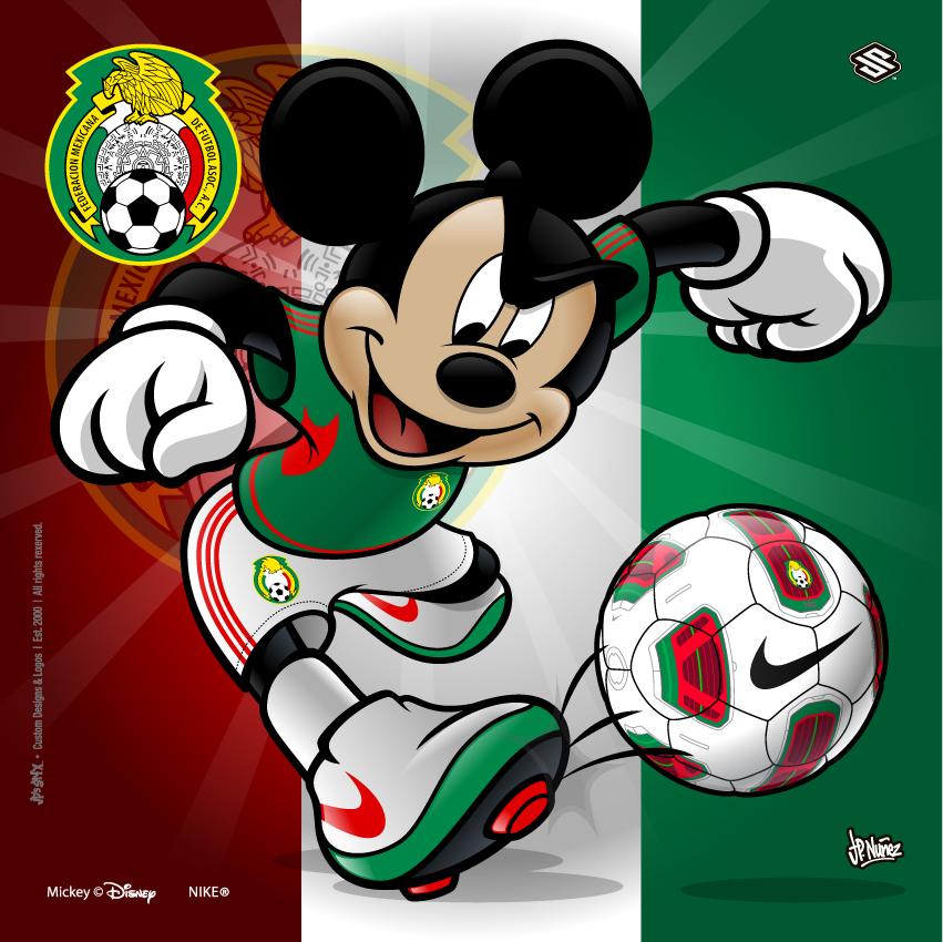 Mexico Soccer Mickey by jpnunezdesigns 851x850