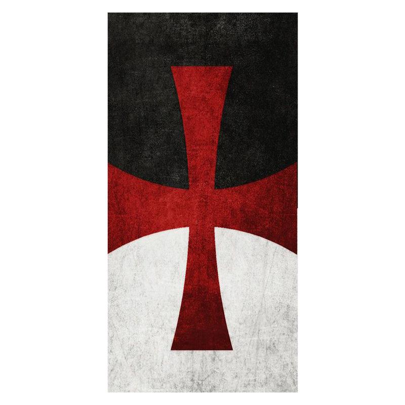 Knights Templar Cross Background Print Bamboo Fiber Bathroom 800x800