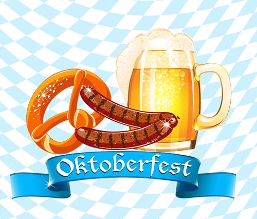 Oktoberfest elements background vectors 01   Vector 500x426