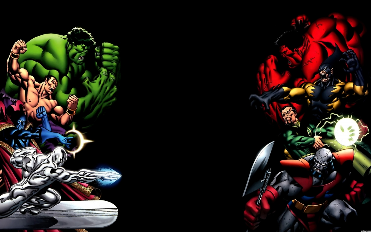Comics   Marvel Comic Comics Hulk Superhero Silver Surfer Wallpaper 1280x800