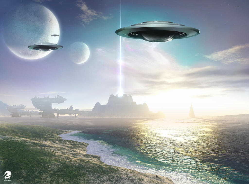 Ufo Wallpapers Widescreen QS235K2   4USkY 1024x756