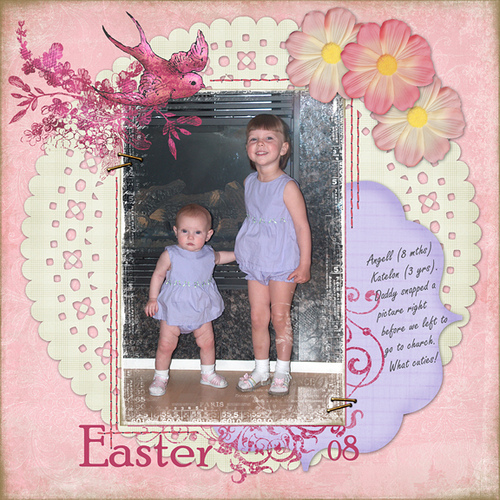 Easter08  digital scrapbooking layouts and ideas by Vivayne 500x500