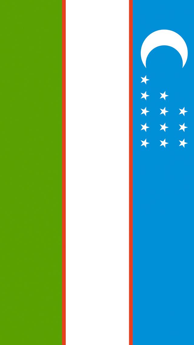 Uzbekistan Flag iPhone Wallpaper HD 640x1136