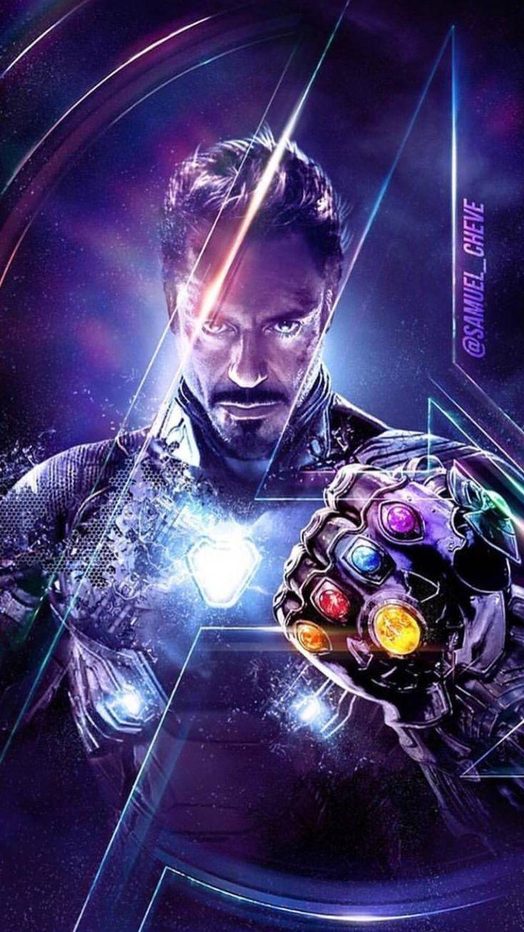 Endgame Tony Stark Infinity Stones iPhone Wallpaper 736x1308