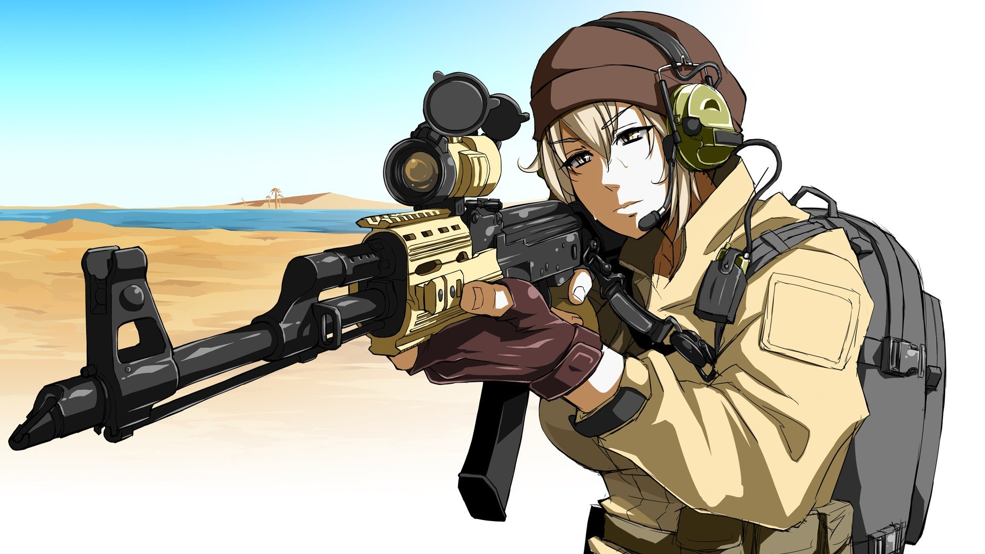 Image Result For Anime Wallpaper Girl With Gun