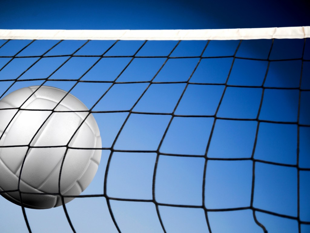 Background Abstract Sport Volleyball Blue Yellow Ball: Volleyball Backgrounds