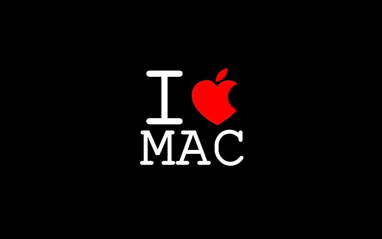 1280x800 I love Mac desktop PC and Mac wallpaper 1280x800