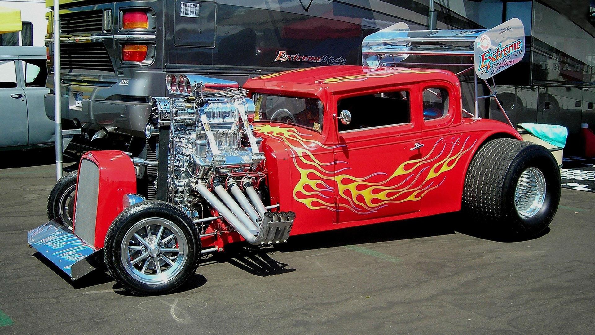 Red Hot Rod HD Wallpaper   HD 1920x1080