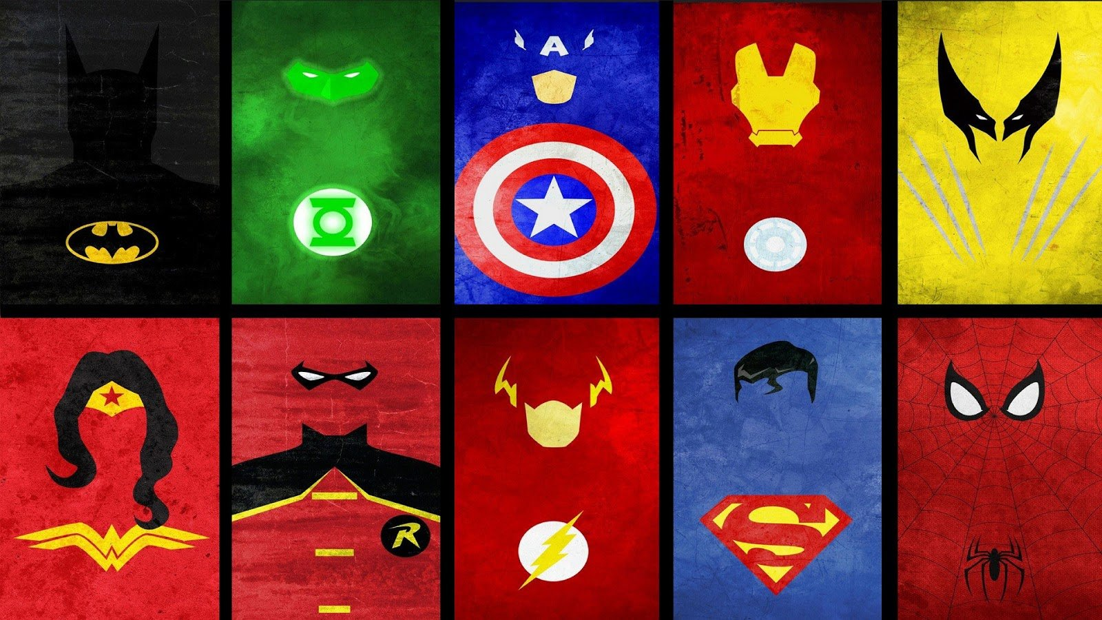 Superheroes Logos Wallpaper - WallpaperSafari
