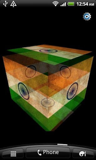View bigger   India Flag 3D Live Wallpaper for Android screenshot 307x512