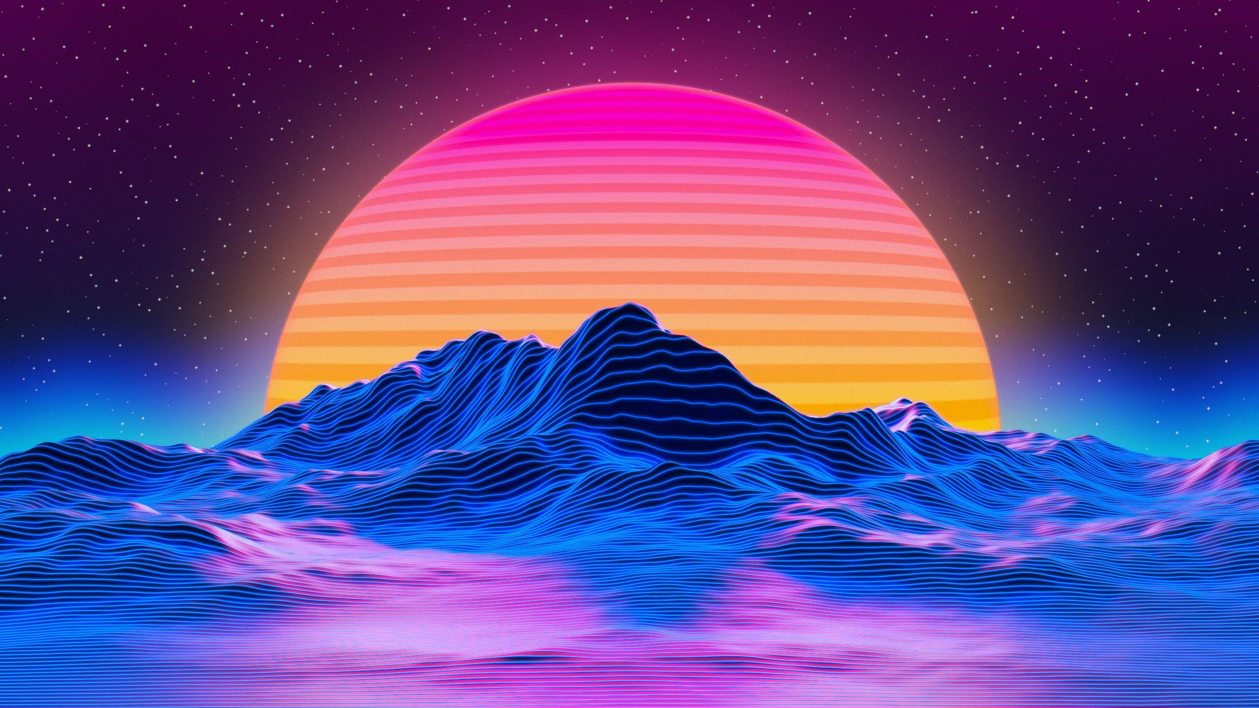 hdwallpaper vaporwave wallpaper desktop outrun 2k Fondos de 2560x1440