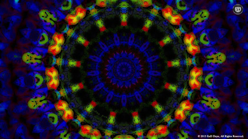3D HD Trippy Blue Psychedelic Desktop Wallpapers by End Dzyn 869x489