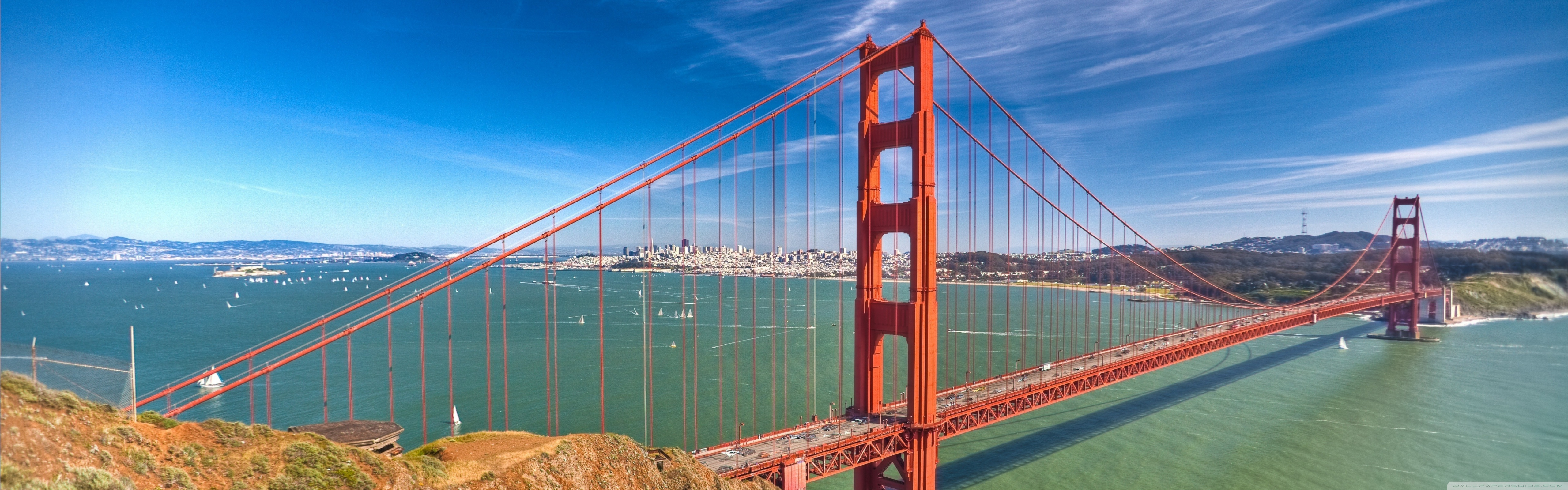 Golden Gate By Day 4K HD Desktop Wallpaper for 4K Ultra HD TV 5120x1600