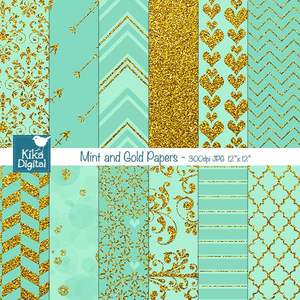 Mint and Gold Wallpaper - WallpaperSafari