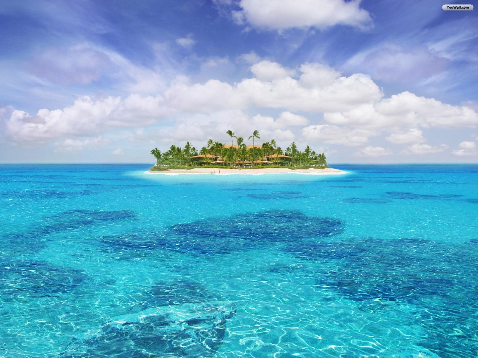 Island paradise wallpaper