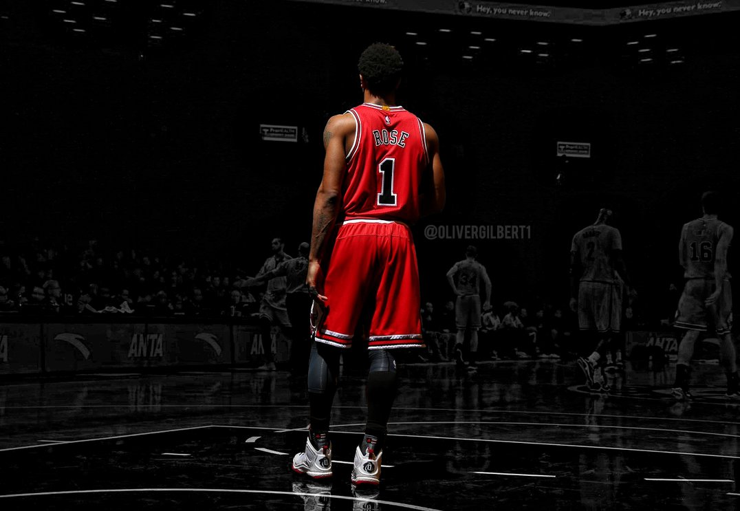 Derrick Rose by Hecziaa 1076x743
