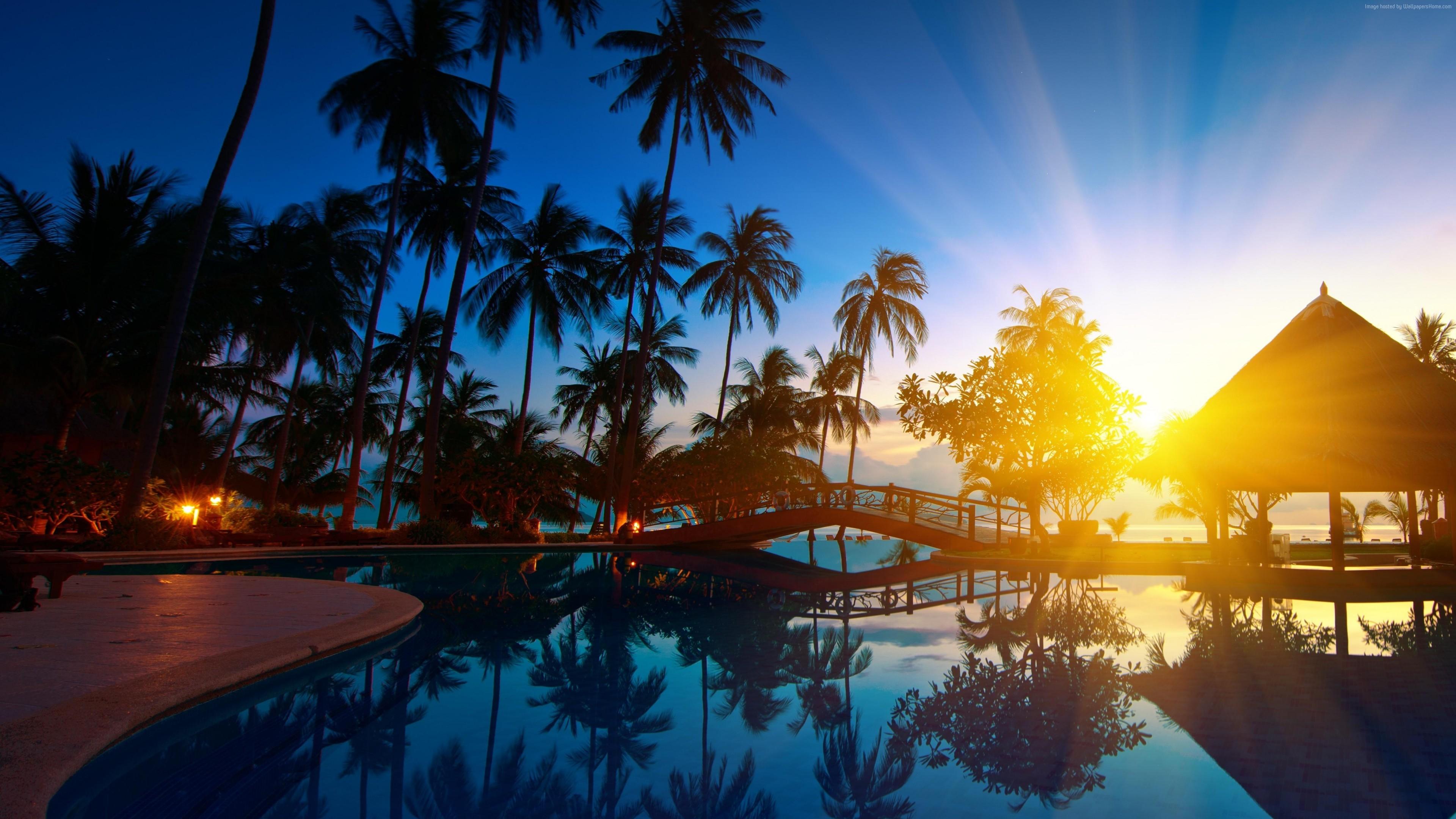 Wallpaper Thailand hotel ocean beach vacation 5k 4k Travel 3840x2160