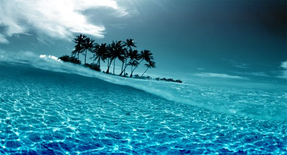 Hd Tropical Island Beach Paradise Wallpapers And Backgrounds: [61+] Tropical Island Sunset Wallpaper On WallpaperSafari