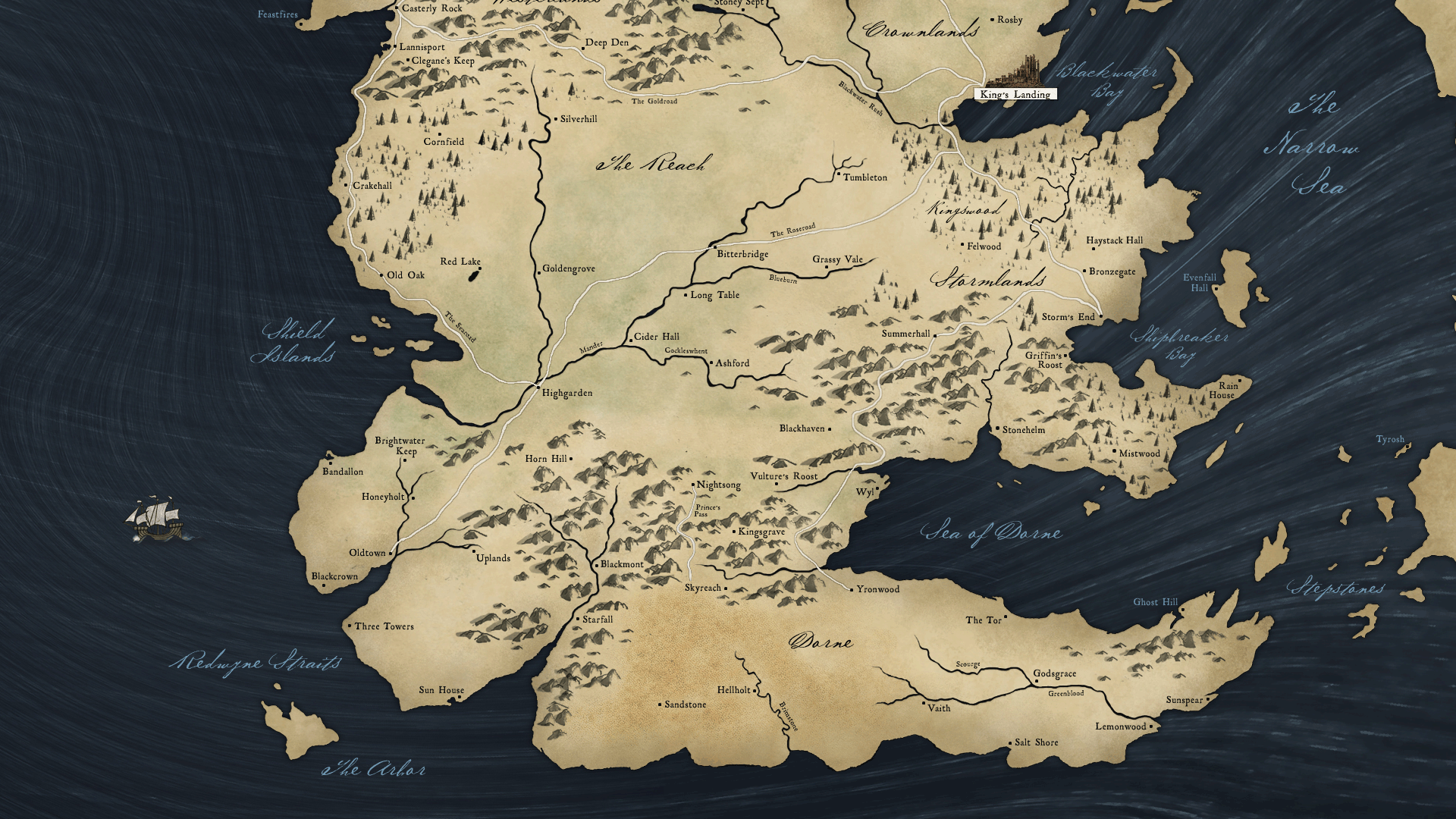 Map Of Westeros And Essos symphony of the night map