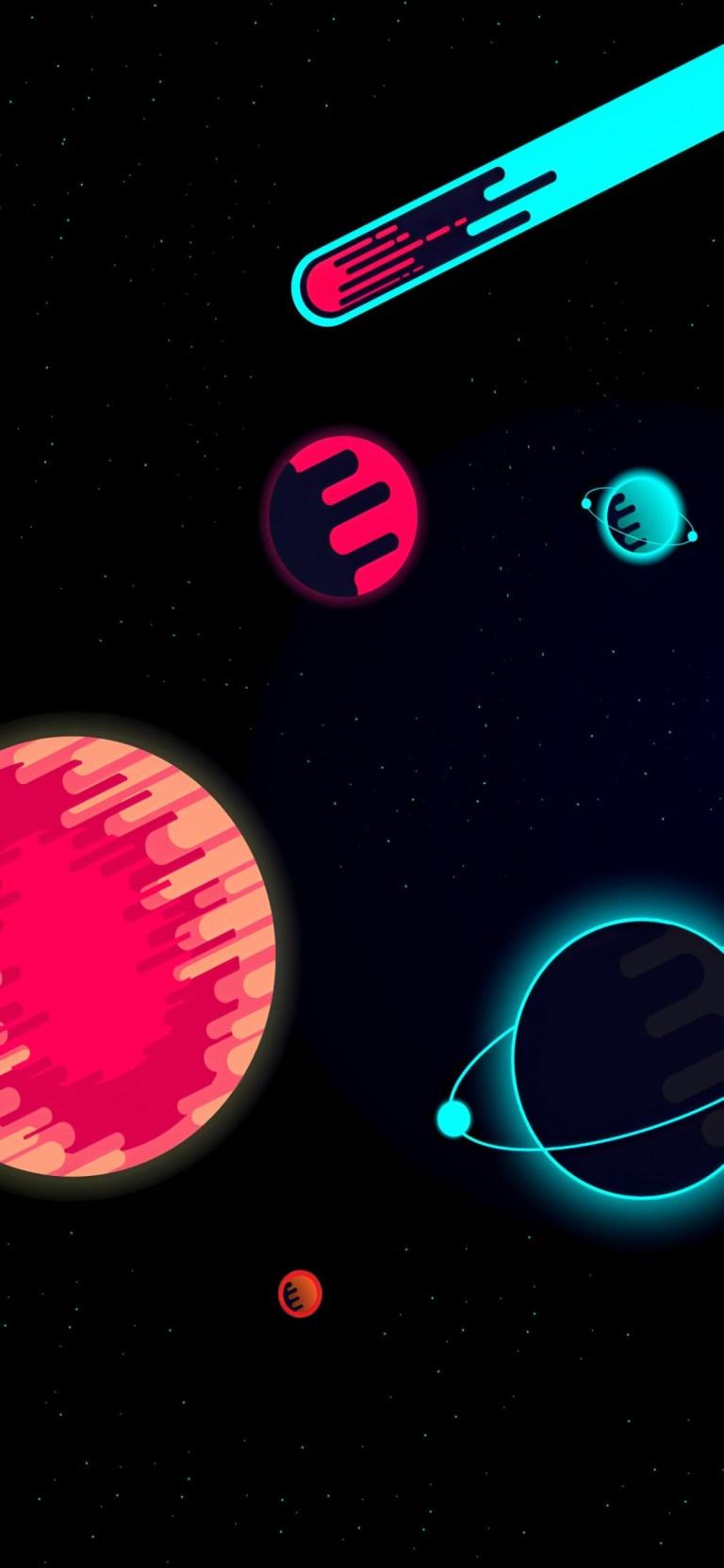 Dark Planet Minimal iPhone 12 Pro Ultra HD Wallpaper Download 768x1664