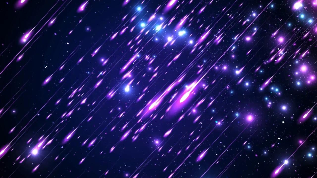 4k 60FPS SHOOTING STARS Deep Purple BLUE SPACE Moving 1280x720