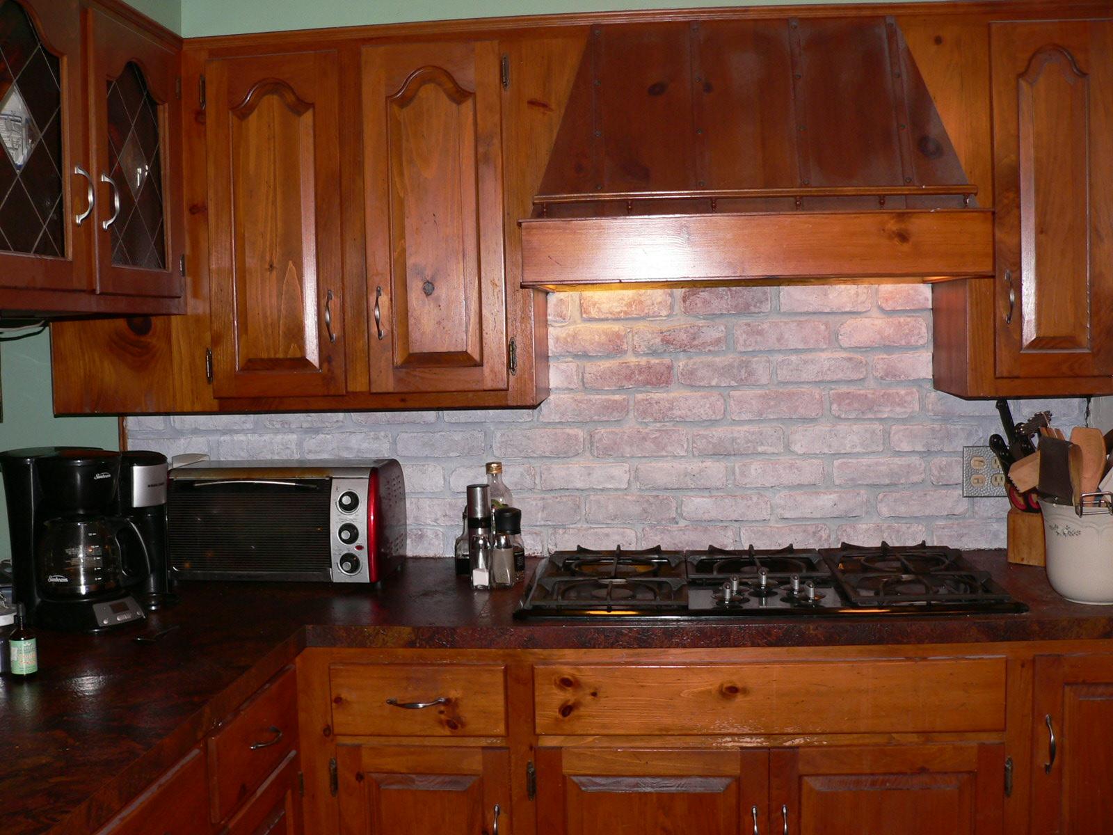 Faux Brick Kitchen Backsplash httpwwwfitfoodieforlifecom201209 1600x1200
