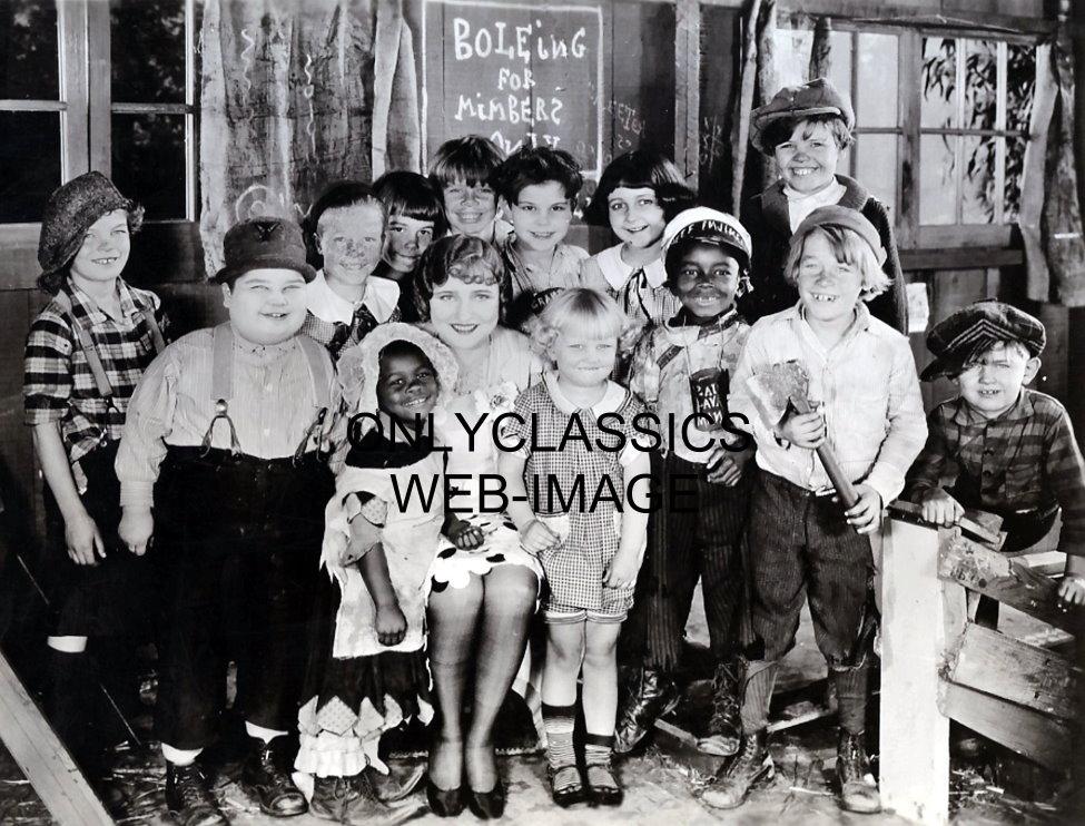 1927 OUR GANG LITTLE RASCALS AGNES AYRES HAL ROACH MOVIE PHOTO CUTE 975x742