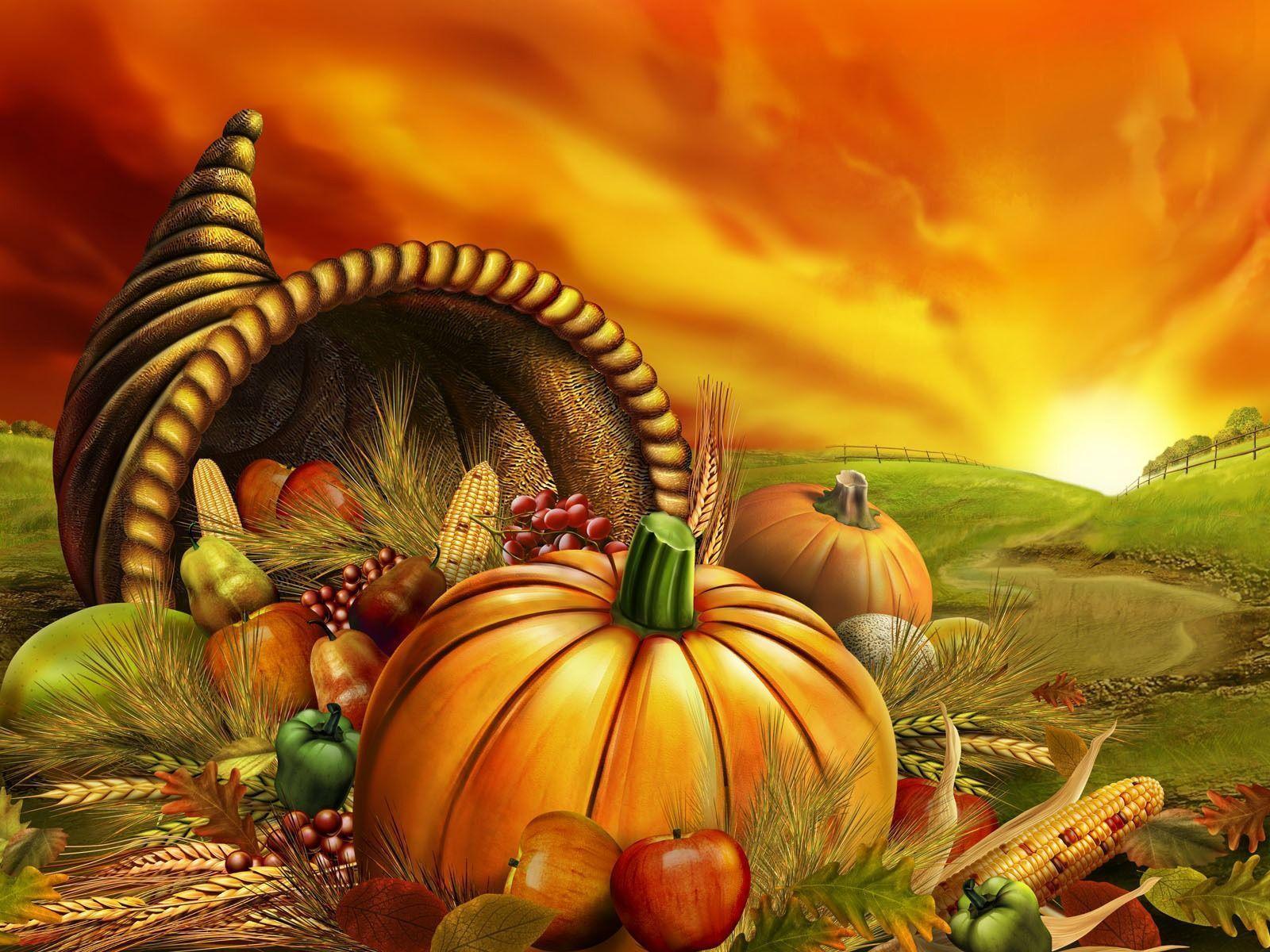 3D Thanksgiving Wallpapers 1600x1200