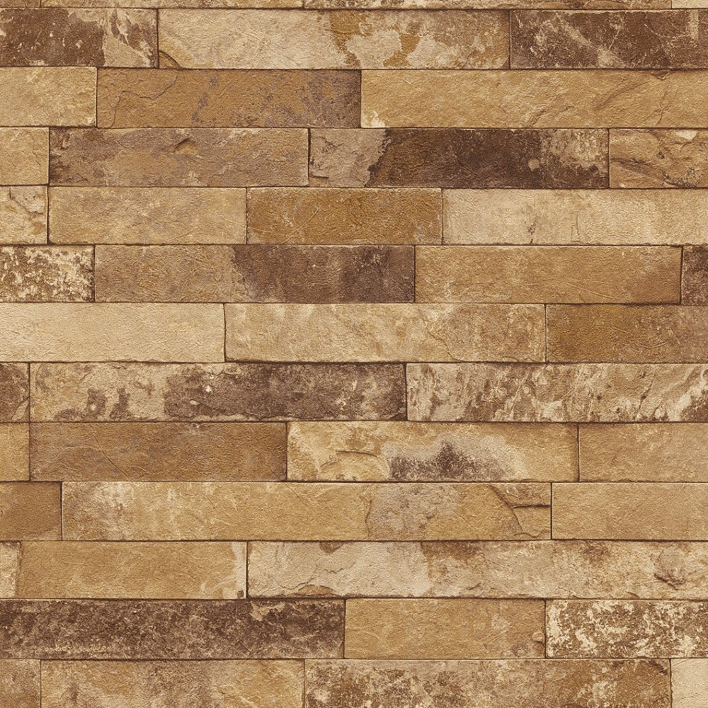 Rasch Factory 2014 non woven wallpaper 438413 stone look beige brown 1000x1000