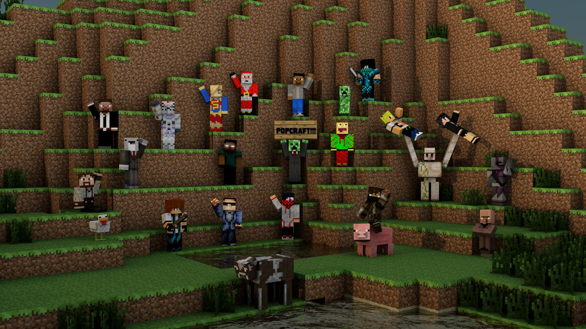 1920x1080px 3d Minecraft Wallpapers Wallpapersafari