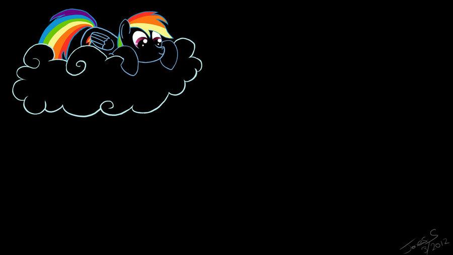 Black Rainbowdash WallpaperLogin Screen by jones4101 on deviantART 900x506