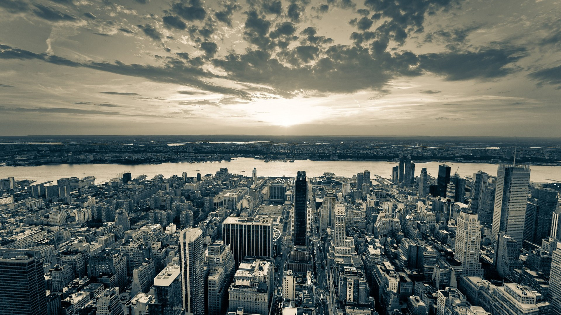 High Resolution Black and White New York Skyline Wallpaper HD 8 Full 1920x1080