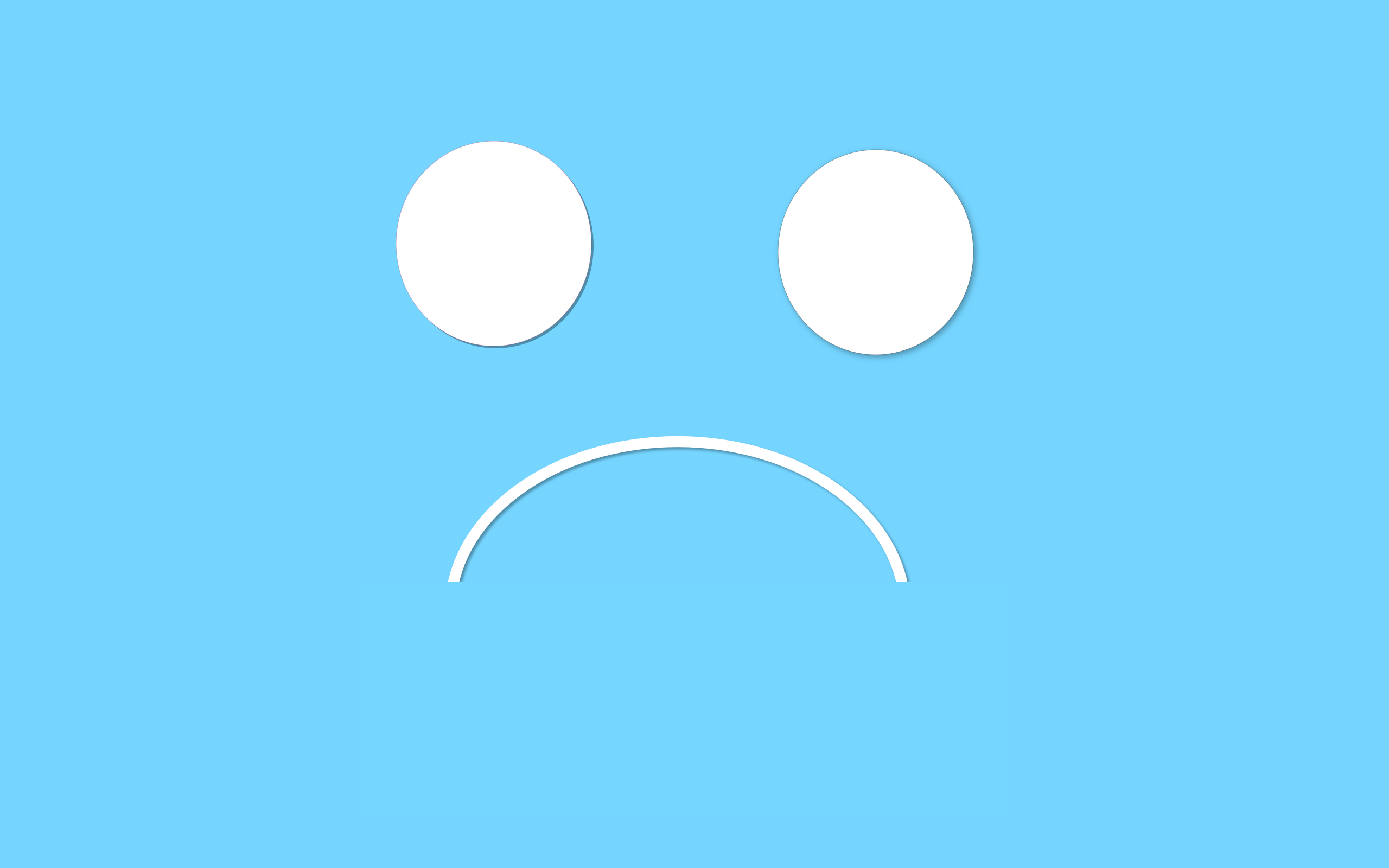 Sad Face Wallpapers 2560x1600