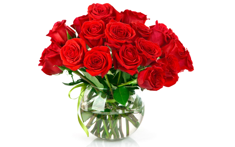 Wallpaper Vase of Roses 2880x1800