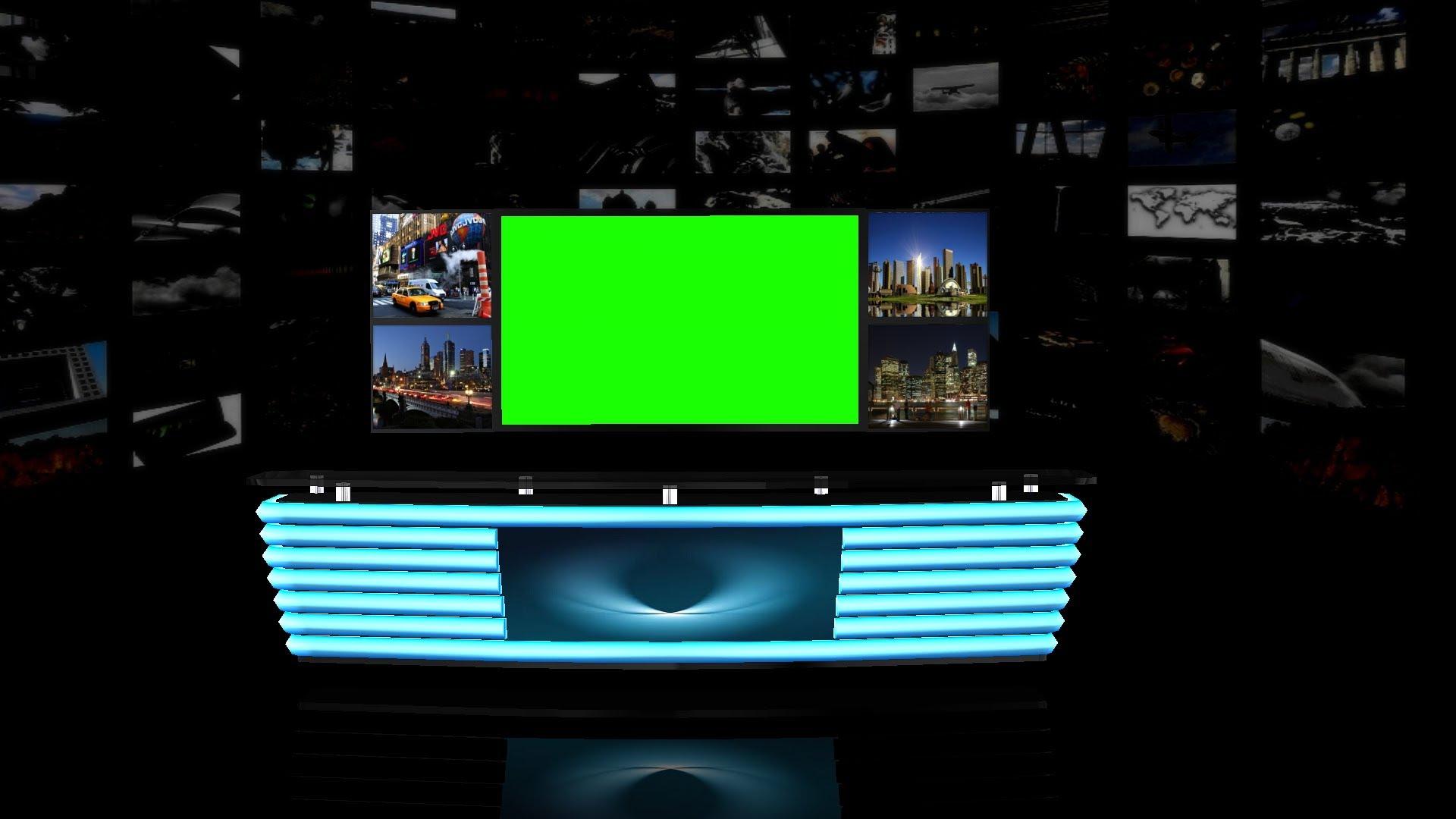 Virtual TV Studio Background   green screen 1920x1080