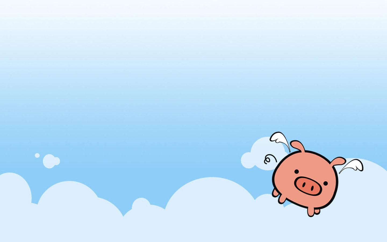 The cute pig illustrator wallpaper comics desktop background Cartoon 1440x900