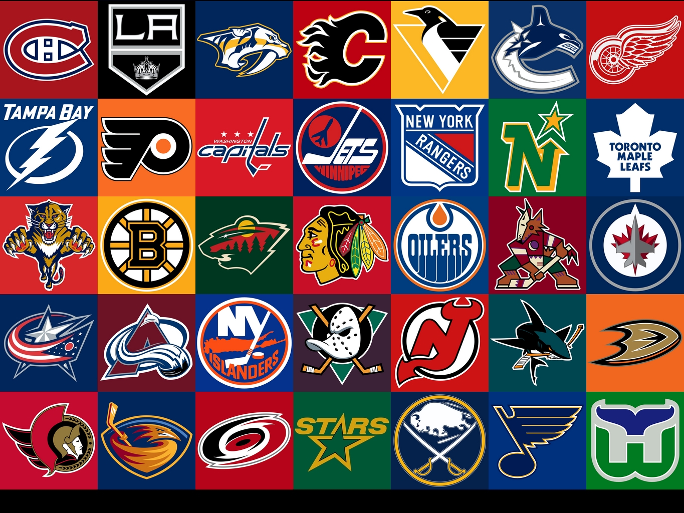All NHL Hockey Team Logos 1365x1024