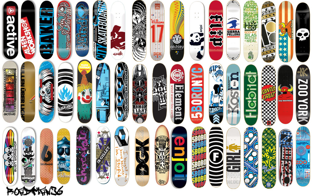 Skateboard Decks Wallpaper by roadman36 1024x640