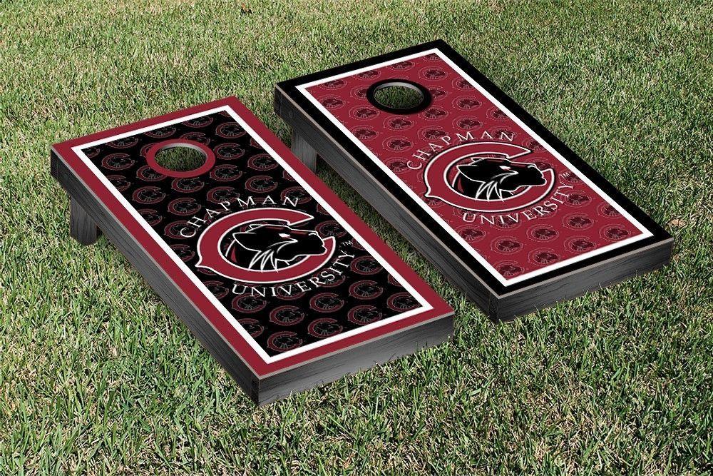 Chapman University Panthers Repeat Logo Wallpaper Cornhole Set 1000x667
