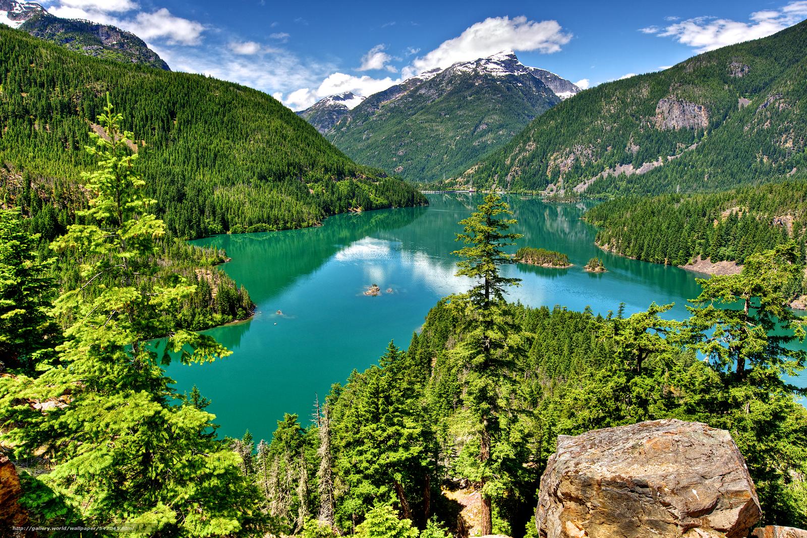 Download wallpaper North Cascades National Park Washington lake 1600x1067