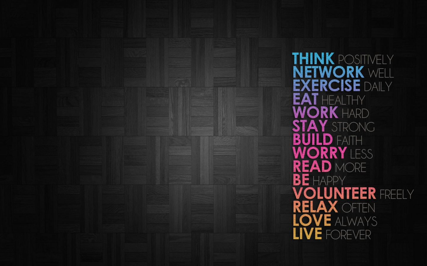 Positive Thinking Wallpapers for Desktop The Art Mad Wallpapers 1440x900