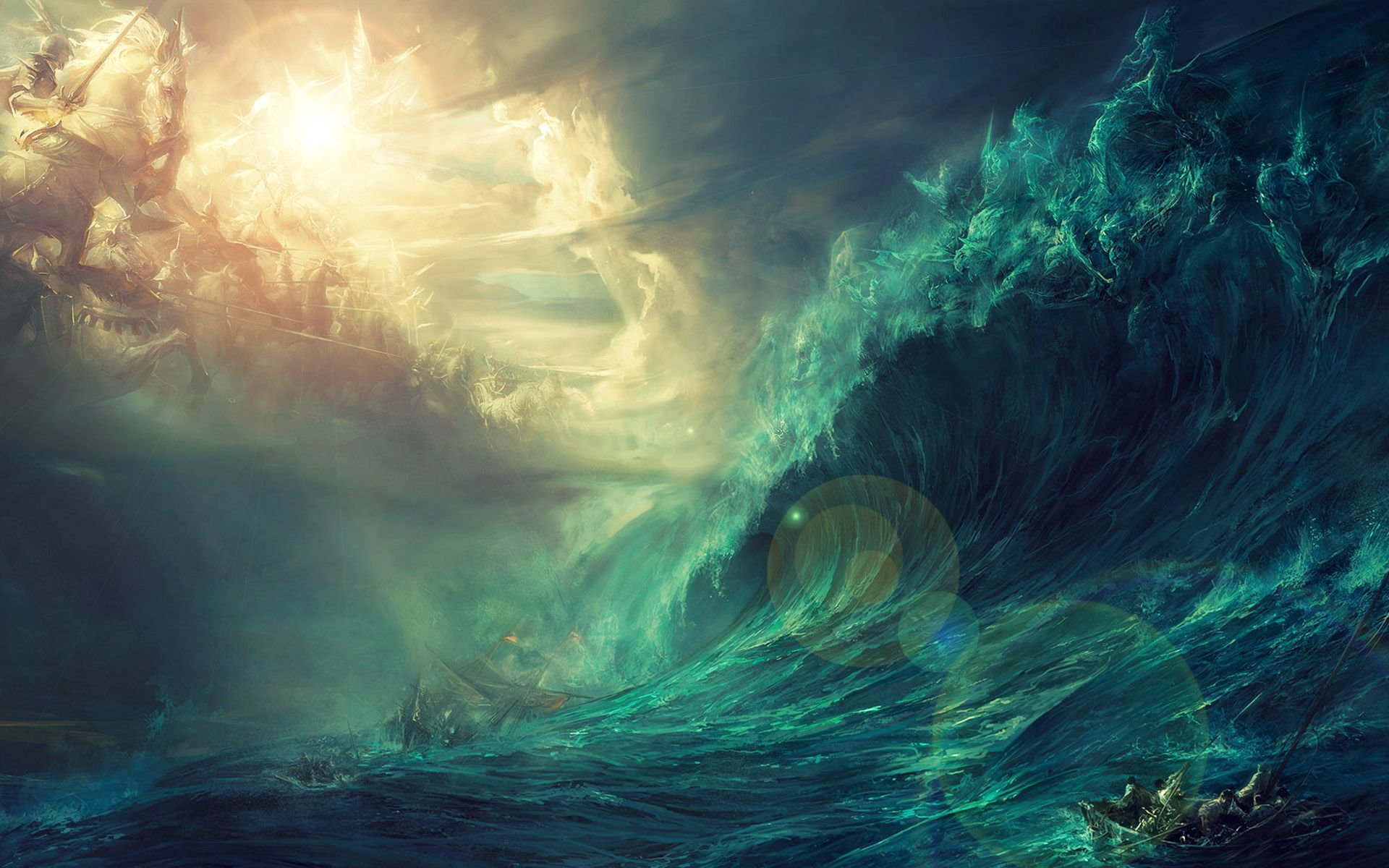 War at the stormy sea Wallpaper #1472